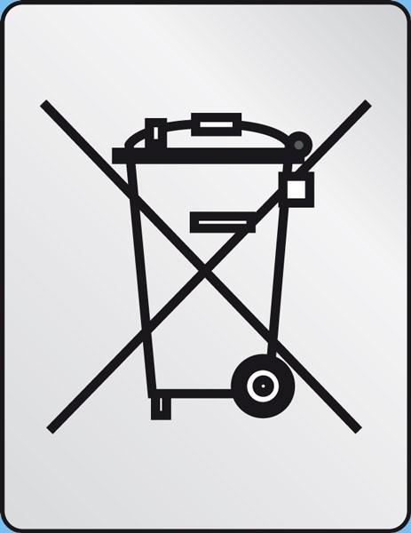 R571-WEEE (ohne Balken), Polyesterfolie silber-matt, 10x13mm