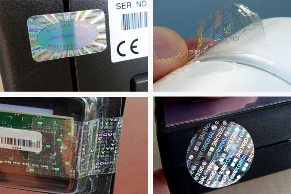 Hologramme als Garantiesiegel und Verschlusssiegel