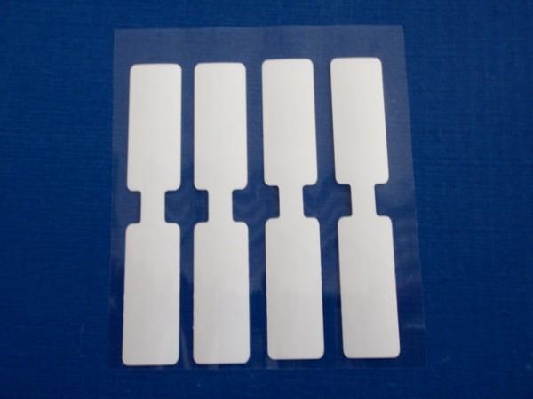Schlaufenetiketten 12 x 69 mm - auf Rollen - blanko/unbedruckt