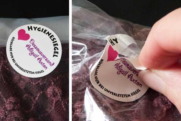 hygienesiegel mit logodruck