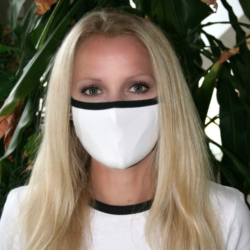 waschbare stoffmaske weiss