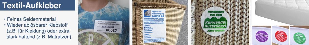 Textilaufkleber aus Acetatseide