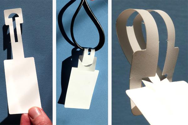 Schlaufenetiketten aus Polyester für Außenanwendung