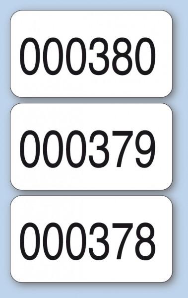 Nummerierte Etiketten - Papier weiß