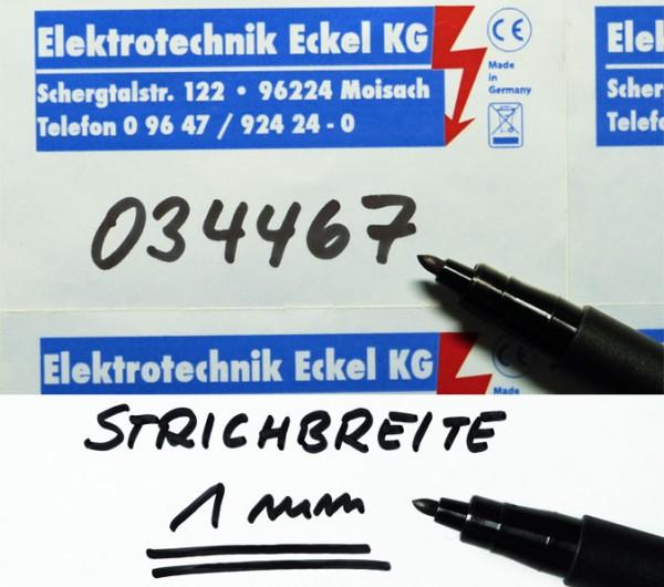 Folienstift M, Strichbreite 1,0 mm, schwarz