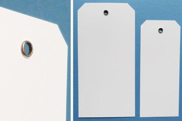 PVC-Anhängeschilder mit Metall-Öse