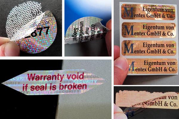 Hologramm-Garantie-Etiketten