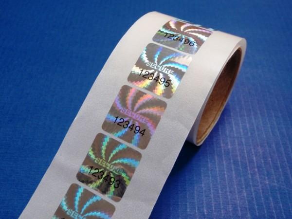 "Nummerierte Etiketten: Hologrammfolie ""Secure"""