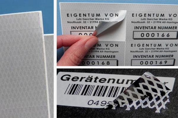 Sicherheitsfolie für Laserdrucker auf A4 Bogen