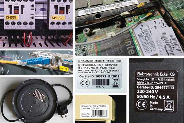 aufkleber fuer elektronik bauteile