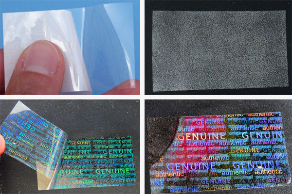 transparente Invers-Hologrammfolie
