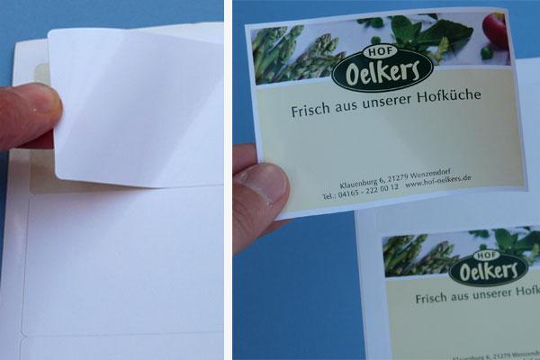 Glänzende A4 Etiketten Laserdrucker