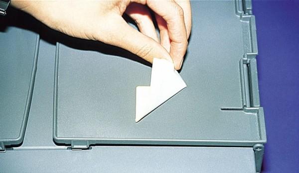 Papier, weiß-matt - ablösbar, auf A4-Bogen