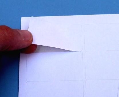 Papier-Etiketten für Laserdrucker auf A4-Bogen