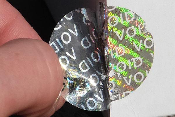 hologrammsiegel mit VOID-Effekt