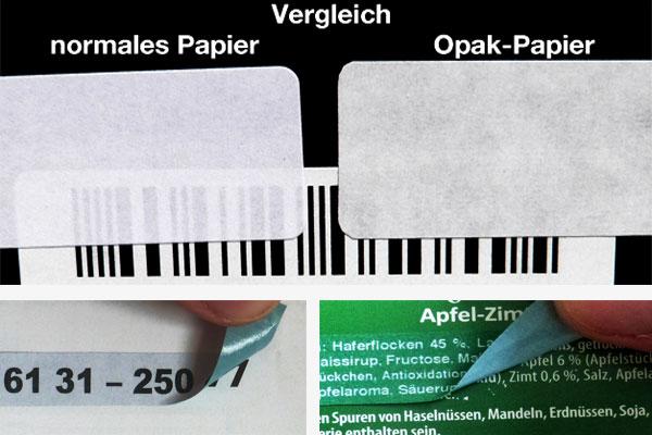 Etiketten zum überkleben