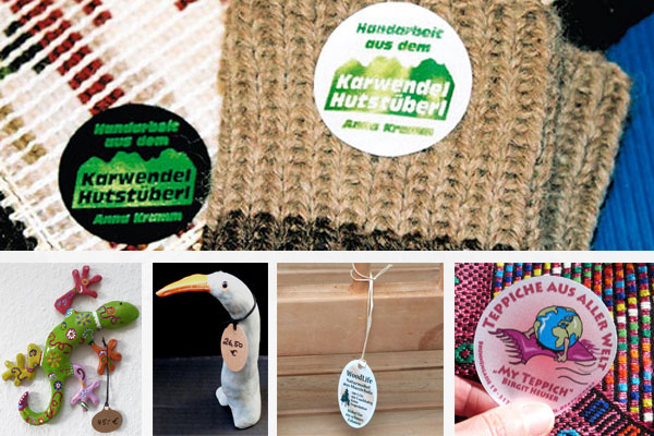 Seidenlabels für Textilware