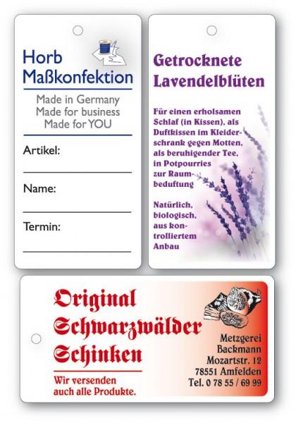Anhänge-Etiketten aus Karton - 40x80 mm - RECHTECKIG