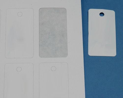 Anhänge-Etiketten aus Karton, 20x40 mm rechteckig, auf A4-Bogen für Laserdrucker