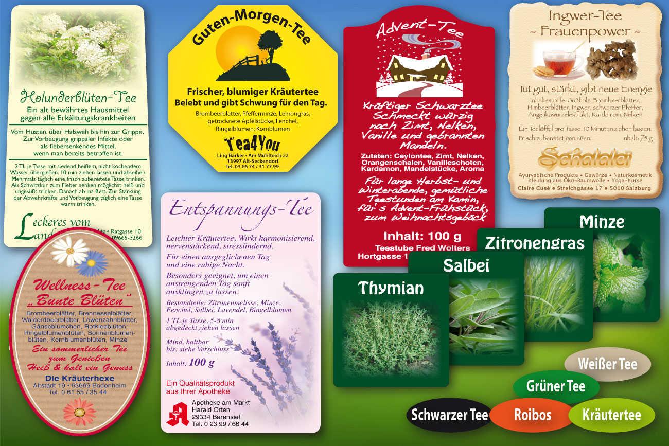 Tee-Etiketten
