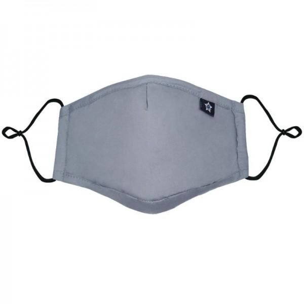 Stoffmaske mit tauschbarem Filter, grau