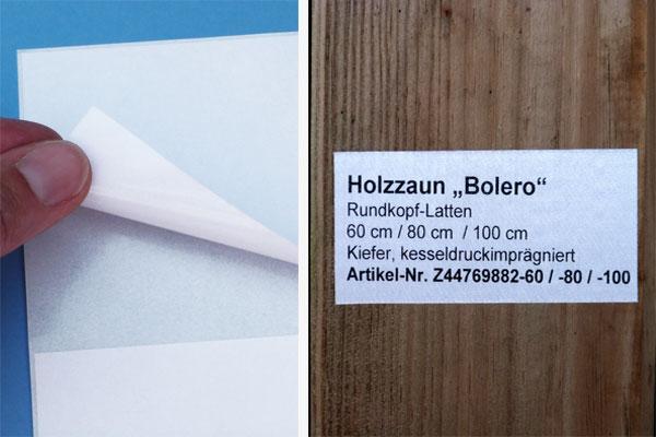 A4 Bogen für Inkjetdrucker mit stark haftendem Klebstoff