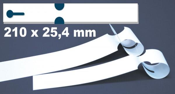 Schlaufen-Etiketten - 210 x 25,4 mm auf Bogen für Laserdrucker