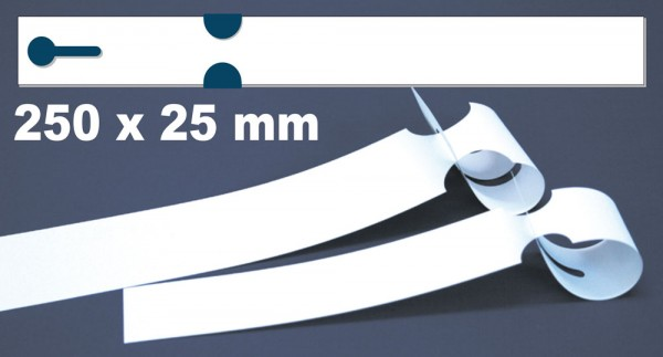 Schlaufen-Etiketten - 250 x 25,0 mm auf Bogen für Laserdrucker