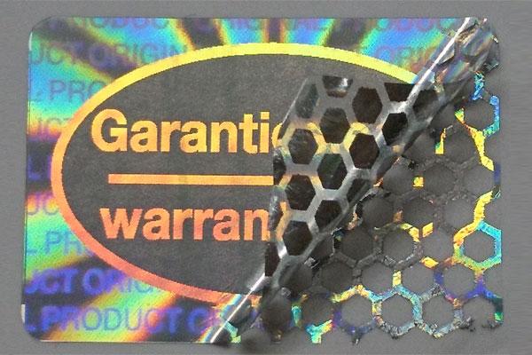 hologramm warranty seal - garantie siegel