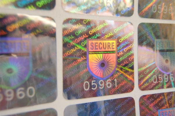 Hologrammaufkleber mit Nummerierung