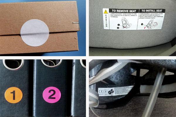 Superhaftpapier-Etiketten