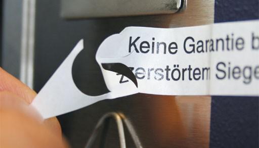 Ablösbare Sicherheits-Siegel, Papier - mit Wunschtext