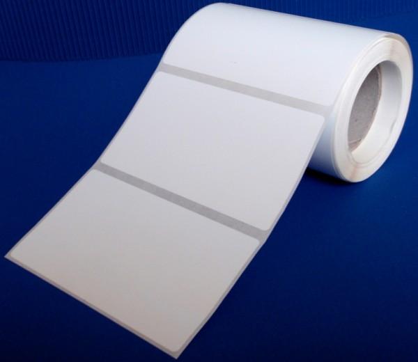 Rollen-Inkjet, Spezial-Papier, weiß-matt, Klebstoff permanent