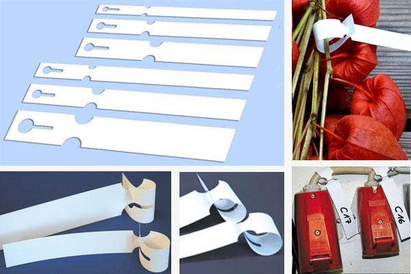 Schlaufenetiketten auf A4 Bogen für Laserdrucker
