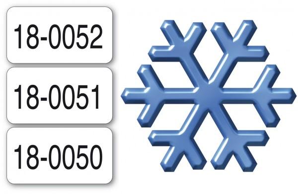Nummerierte Etiketten - Papier weiß - TIEFKÜHL
