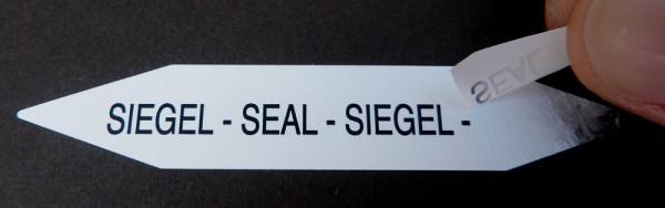 Sicherheitssiegel SIEGEL - SEAL - SIEGEL - SEAL