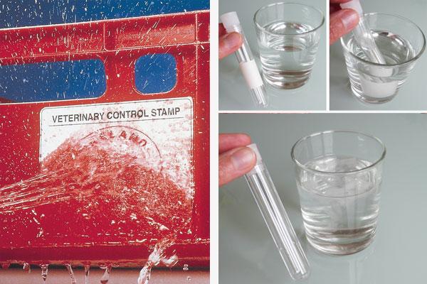 A4 Bogen für Inkjetdrucker mit wasserauflösbarem Klebstoff
