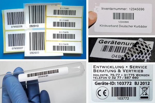 Nummerierte Etiketten für Inventar, Lager, Organisation