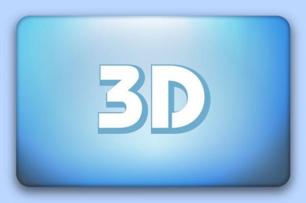 3D Doming-Etiketten, rechteckig