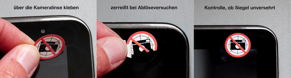 sicherheitsetiketten fotoverbot