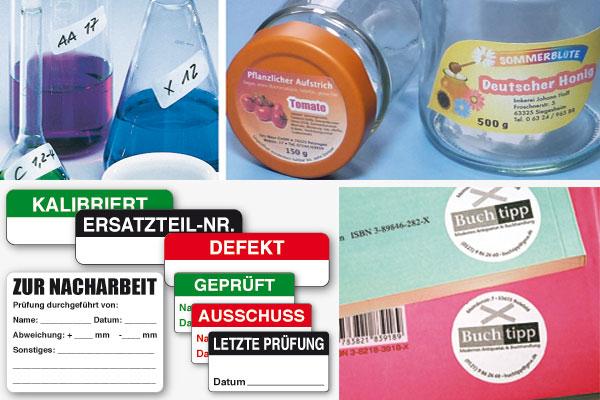 ablösbare Etiketten, Papier seiden-matt