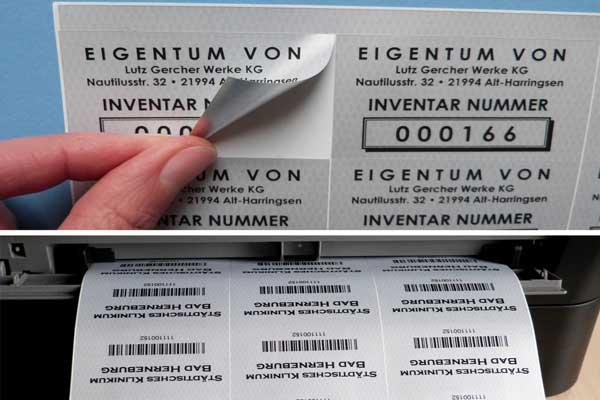 inventaretiketten fuer laserdrucker