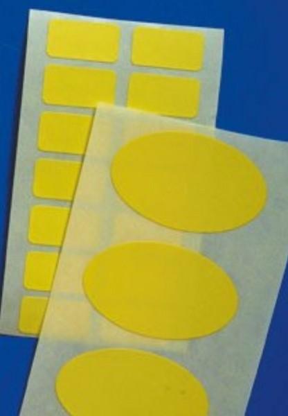 Papieretiketten, gelb - in vielen Größen