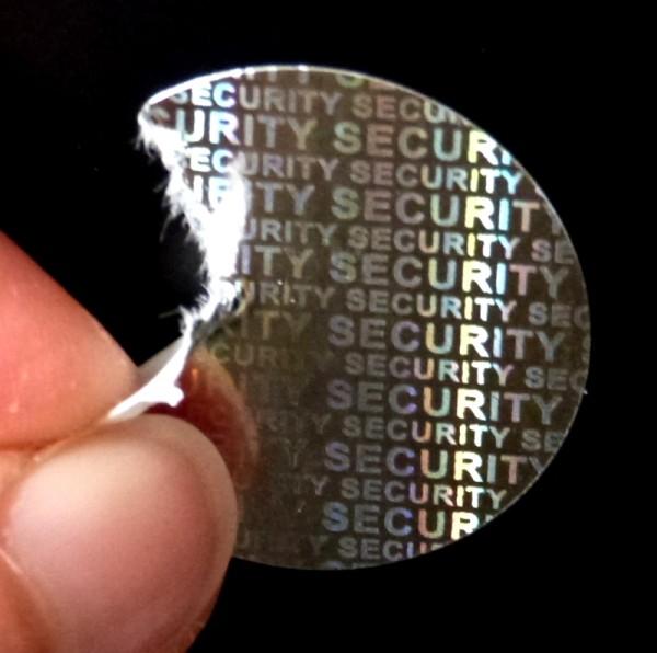 """Siegel - Hologramm-Papier, silber-glänzend """"SECURITY"""""""