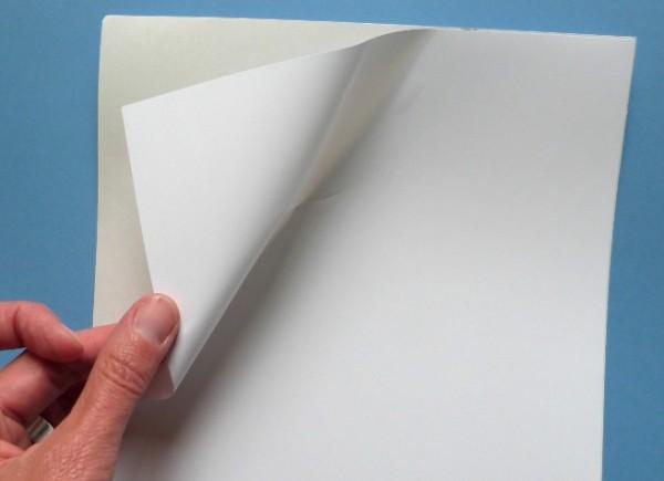 Polyester-Folie, weiß-matt, auf A4-Bogen