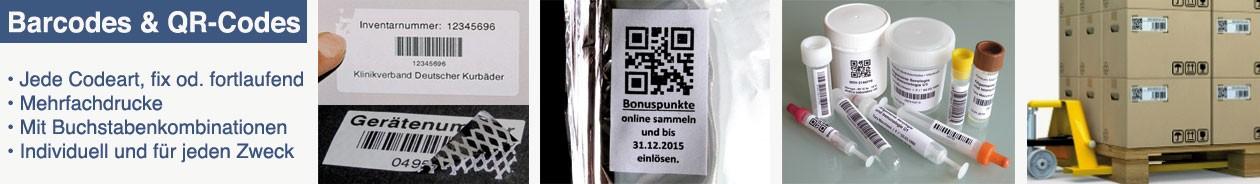Barcode, QR-Code Aufkleber
