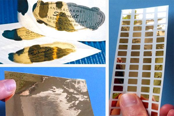 Gold glänzende Polyesterfolie