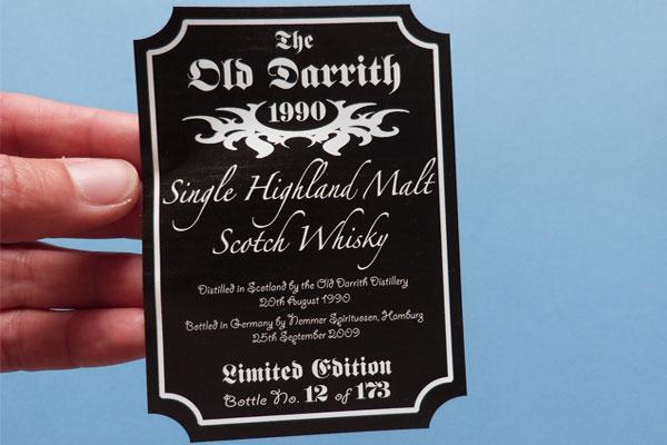 Whisky- und Liköretiketten