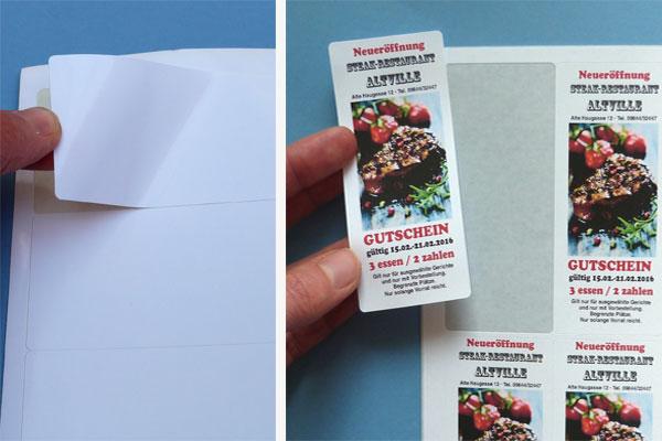 Glänzende A4 Etiketten für Inkjetdrucker