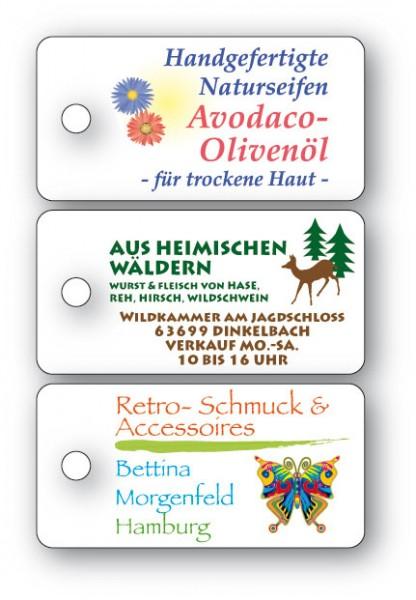 Anhänge-Etiketten aus Karton - 20x40 mm - RECHTECKIG